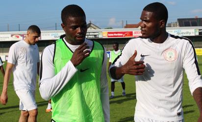 GOOD TO GO: Super Eagles players preparing for Mali.