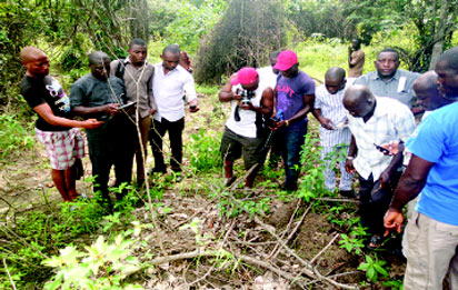 •Identifying the shallow grave of the late Isaac Dittimiya