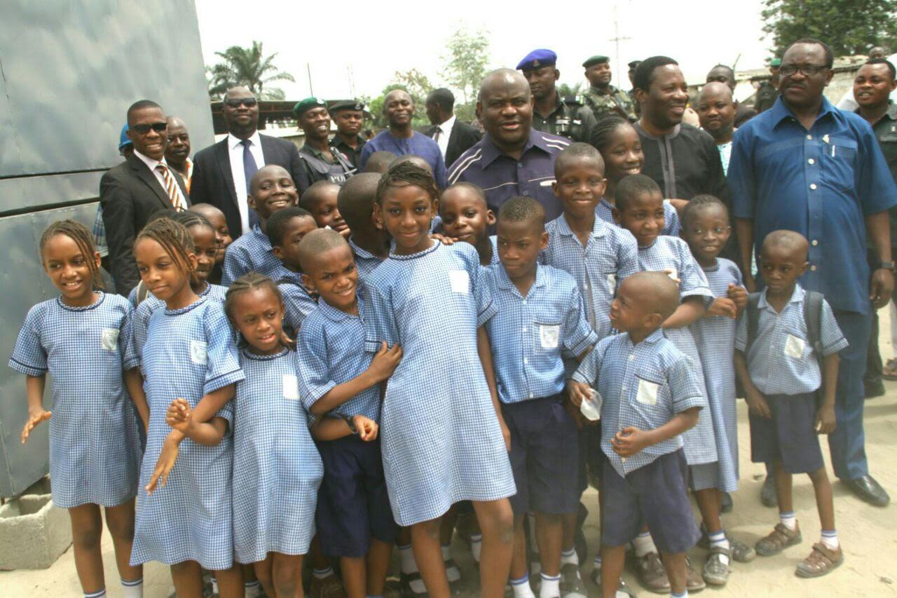 Governor  Wike celebrates Children's day