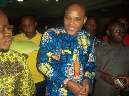 Nnamdi Kanu arrive the Federal High Court, Abuja, on Monday, June 20, 2016.