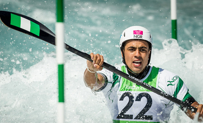 GO FOR GOLD: Jonathan Akinyemi competing in Kayak at the 2012 London Olympics. Akinyemi is ready to compete in Rio Games.