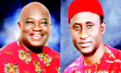 Governor Okezie Ikpeazu and Uche Ogah