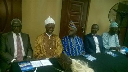 L–R:Emeritus Professor Ayo Banjo; Eze Prof. Chukwuemeka Ike; Chairman, University Press Plc, Dr. Lalekan Are; MD, UP Plc, Mr. Samuel Kolawole and guest lecturer, Emeritus Professor Ayo Bamgbose at the event
