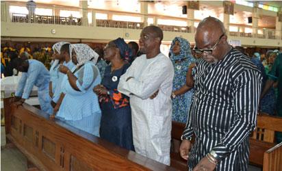 From Left: Femi Keshi, Stephanie Keshi, Jennfer Keshi, Mr. and Mrs. Richard Aburime and Amaju Pinnick(NFF President)