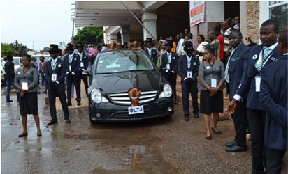 Keshi goes home after church service