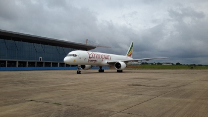 Governor Ifeanyi Ugwuanyi of Enugu State, on Tuesday, August 23, 2016, led other eminent dignitaries of the state to the ceremony marking the landing of the first international cargo aircraft at Akanu Ibiam International Airport, Enugu, courtesy of the Ethiopian Airlines.