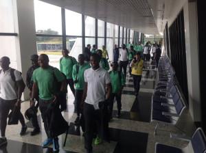 Nigerian Olympic Football Team, arriving Manaus, on Thursday.