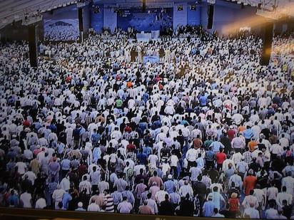 Over 35,000 Ahmadi Muslims converged at the Oakland Farm, Hadeeqatul Madhi, Hampshire, London