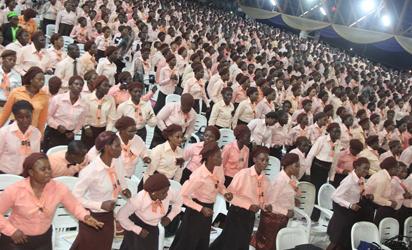 A cross section of Mass choir at a plenary, yesterday. Photos: Lamidi Bamidele