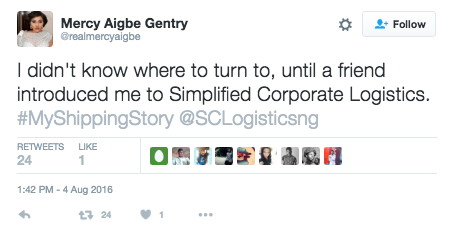 Mercy Aigbe - Simplified Corporate Logistics