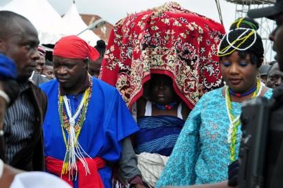 Arugba at the 2016 of Osun Osogbo Festival.PHOTO;AKEEM SALAU