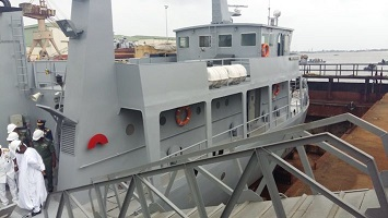 Commissioning of new gunboats of the Nigerian Navy