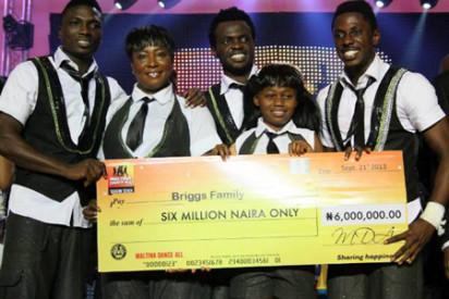 The Briggs Family win Maltina-Dance-All season 7