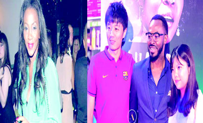 *Genevieve Nnaji and OC Ukeje with fans