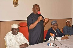 Wike addresses members at PDP National Convention