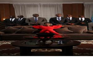 •Angela Ochello with her cabinet members