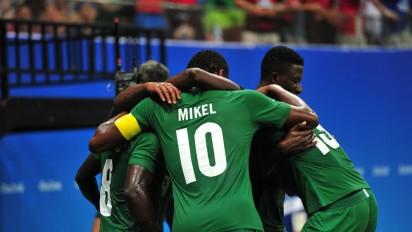 The Dream Team celebrates a goal