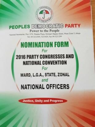 PDP form