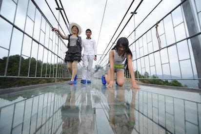 China's  longest glass bottom