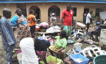 Residents of Ado in Karu Local Government, Nasarawa State counting their losses after Monday night flood killed many residents and damaged several houses, other property