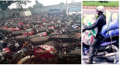 •Thousands of motorcycles used for smuggling, seized by Ogun Customs Command