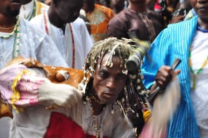 Faces at Osun Osogbo 2016 festival.Photo;Akeem Salau
