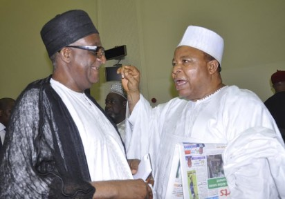 PDP BoT CHAIRMAN, SEN WALI JIBRIL (L), WITH FORMER SENATE PRESIDENT, SEN IBRAHIM MANTU, AT THE INAUGURATION OF PDP CONVENTION COMMITTEE IN ABUJA ON FRIDAY