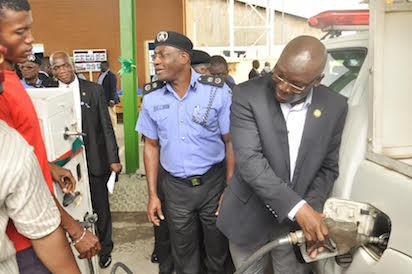 Ambode empowers police with fuel dump