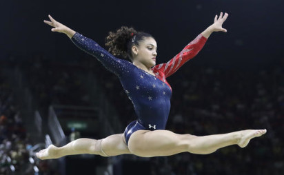FAULTLESS.....United States' Lauren Hernandez performs on the balance beam during the artistic gymnastics women's qualification in Rio de Janeiro.