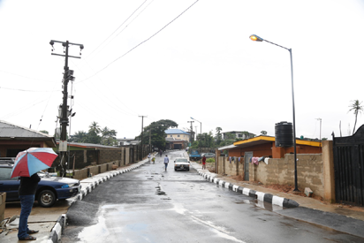 Newly constructed and commissioned Ojediran Street in Ikorodu West Local Council Development Area by Governor Akinwunmi Ambode as one of the 114 Local Government Roads, on Tuesday, September 20, 2016.