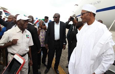 Adams-Oshiomhole-Muhammadu-Buhari