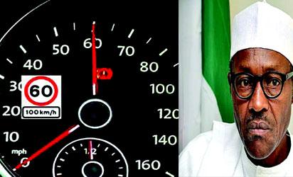 •President Muhammadu Buhari and speedometer