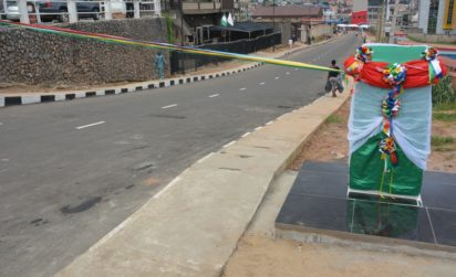 Newly constructed and commissioned Ademola Abiola Street in Ojokoro LCDA by Governor Akinwunmi Ambode as one of the 114 Local Governments Roads, on Monday, September 19, 2016.