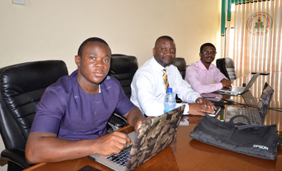 From left: Emmanuel Zidamofor, Dr. Ferdinand Che (Supervisor) and Samuel Ubaneche