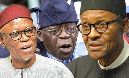 Oyegun, Tinubu and Buhari
