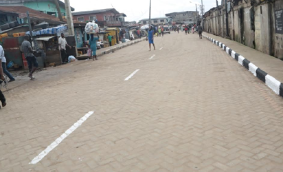 Newly inaugurated Adebimpe Road in Ikosi-Isheri Local Council Development Area, by Governor Akinwunmi Ambode as one of the 114 Local Governments Roads, on Thursday, September 22, 2016.