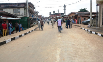 Newly inaugurated Balogun Oyetoro Street in Ikosi-Isheri Local Council Development Area by Governor Akinwunmi Ambode as one of the 114 Local Governments Roads, on Thursday, September 22, 2016.