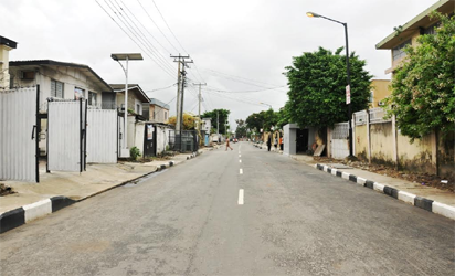 Newly inaugurated Ademola Road in Ikoyi-Obalende Local Council Development Area by Governor Akinwunmi Ambode as one of the 114 Local Governments Roads, on Thursday, September 22, 2016.