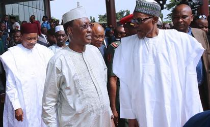 Buhari, President Idriss Deby