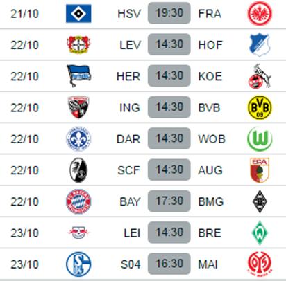 todays bundesliga fixtures
