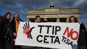 Protest over EU-Canada free trade deal
