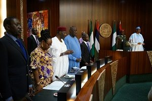 President Muhammadu Buhari on Wednesday presided over the Federal Executive Council (FEC) meeting, the first since the 56th celebration of Nigeria's independence.