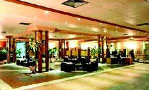 •The hotel's lobby.