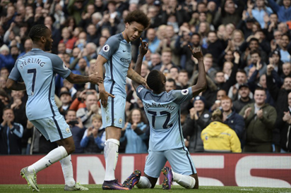 Iheanacho celebrating his goal against Southampton