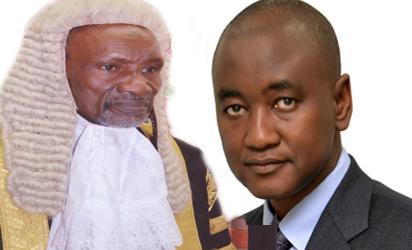Justice Mahmud Mohammed and Abubakar Mahmoud