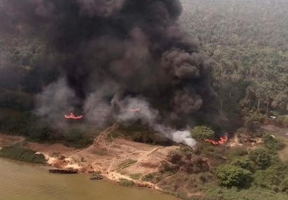 Delta Safe: Air Force Bombs Illegal Oil Refineries and Barges with Gunship