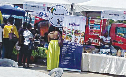 Vendors' stands at the Flavours of Lagos fiesta.
