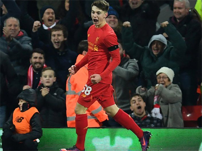 New Michael Owen? Woodburn makes history as Liverpool move into League Cup semis