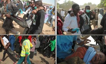 INJURED—Some of those injured in the Shi'ites/Police clash in Kano, yesterday.