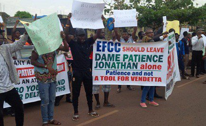 Pro-Jonathan protesters